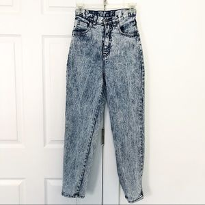 Vintage High Waist Acid Wash Skinny Mom Jeans 24